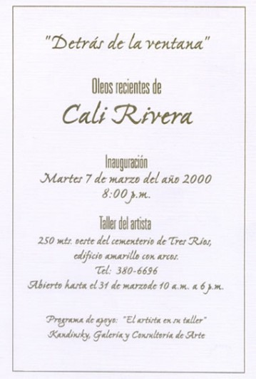 Invitación Exposición Detrás de la Ventana
